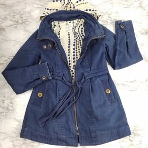 Tulle | Blue Anorak Cotton Jacket with Hood